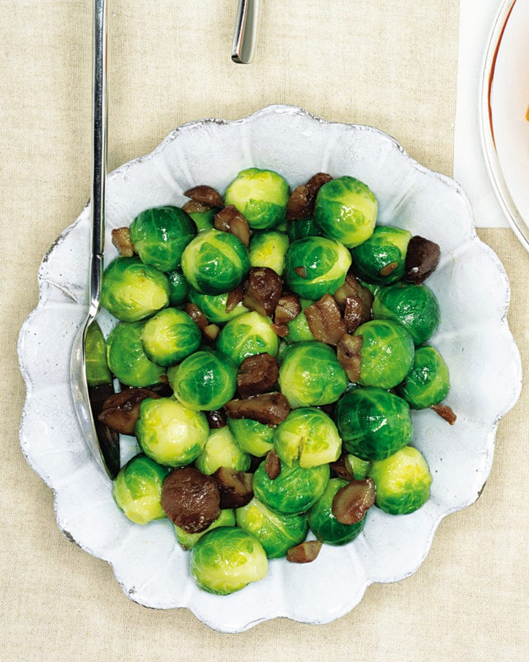 Brussel sprouts with chestnuts