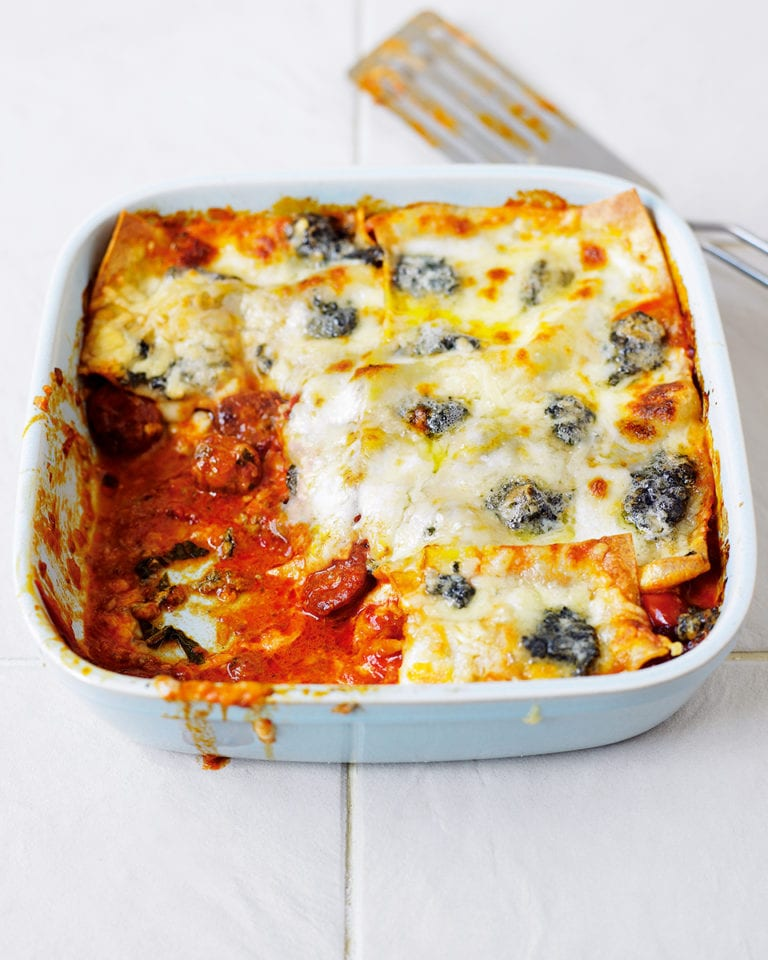 Four cheese lasagne