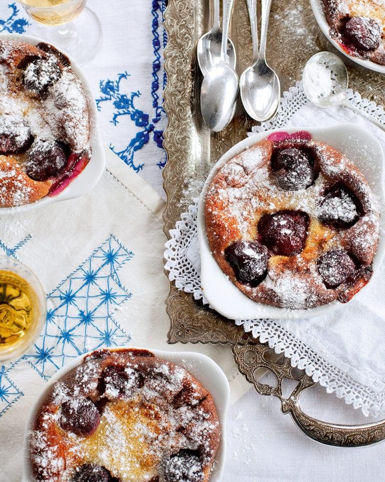 Gordon Ramsay's individual cherry and almond clafoutis