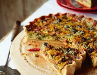 Phil Vickery's chard, leek and blue cheese tart