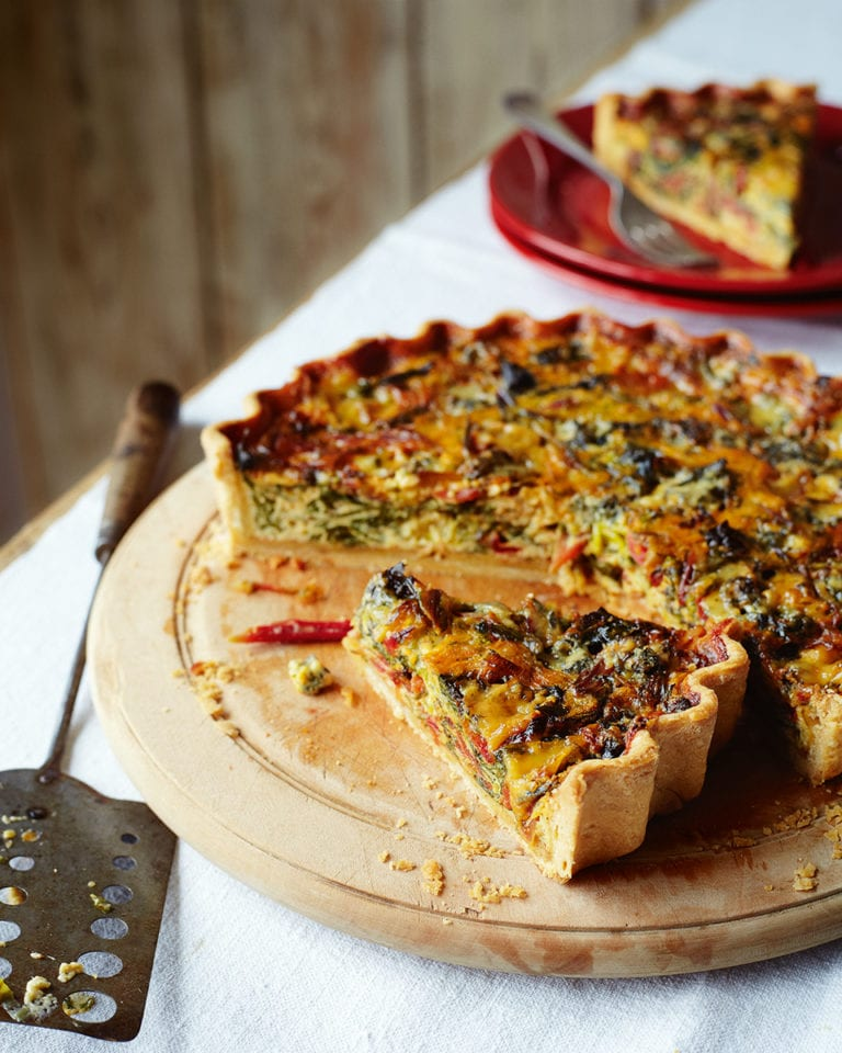 Phil Vickery's chard, leek and blue cheese tart