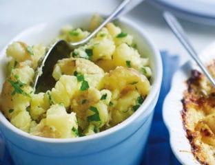 Jersey royal and parsley mash