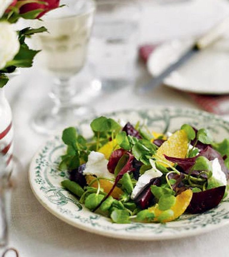 Roasted beetroot, orange and goat's cheese salad