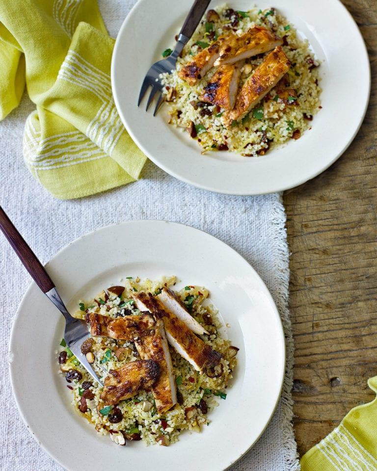 Harissa chicken with couscous