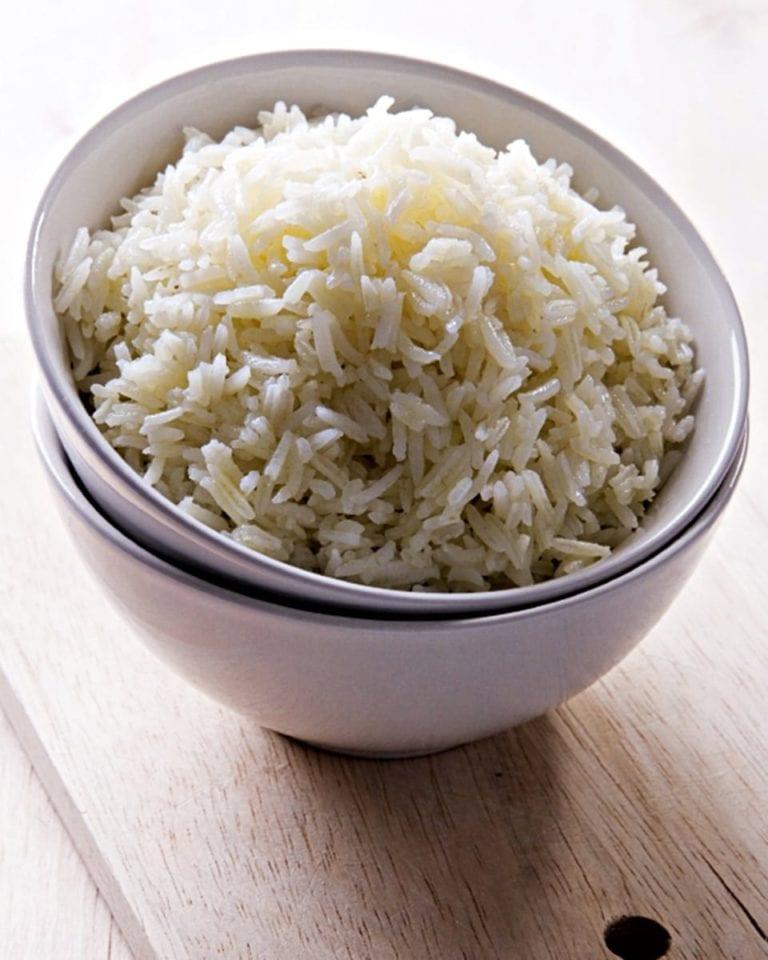 Debbie's foolproof steamed rice