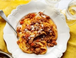 Veal mince ragù with tagliatelle