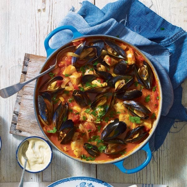 Fish stew with cheat's rouille