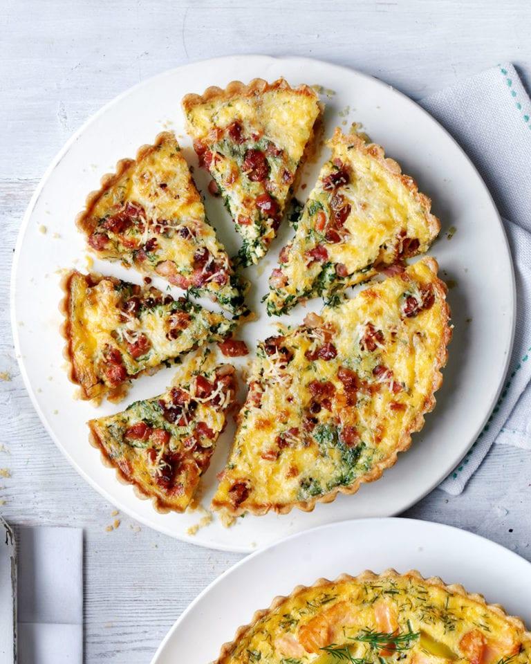 Pancetta and herb tart