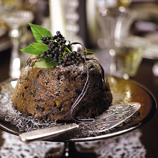 Christmas pudding with brandy butter delicious magazine forumfinder Choice Image