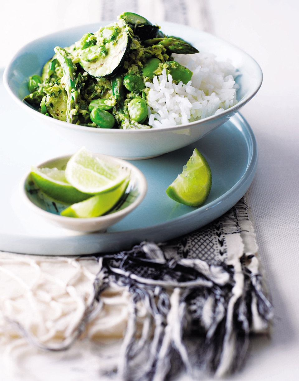 Green thai curry with greens delicious magazine forumfinder Choice Image