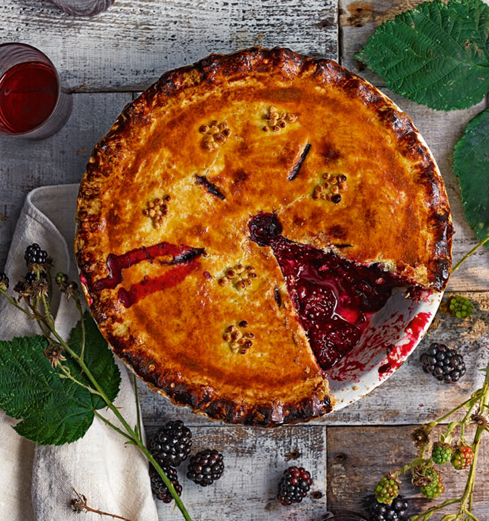 Lattice top berry and sloe gin pie Recipe images