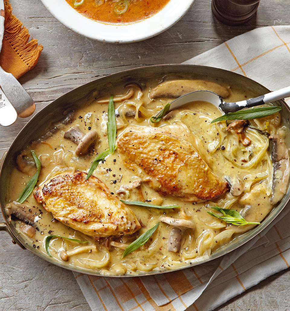 Dijon chicken with mushrooms delicious magazine forumfinder