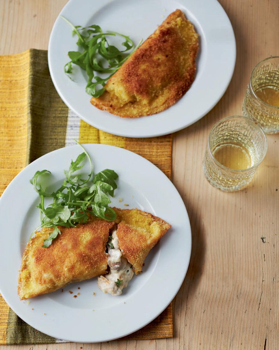Creamy chicken and mushroom crispy pancakes delicious magazine forumfinder Choice Image