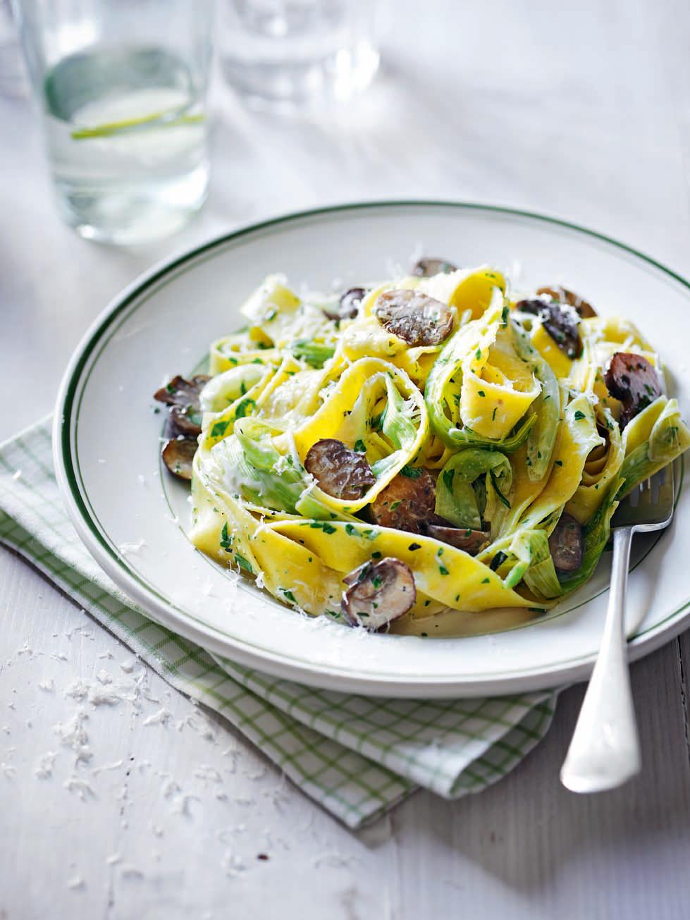 recipe: mushroom and leek pasta [15]