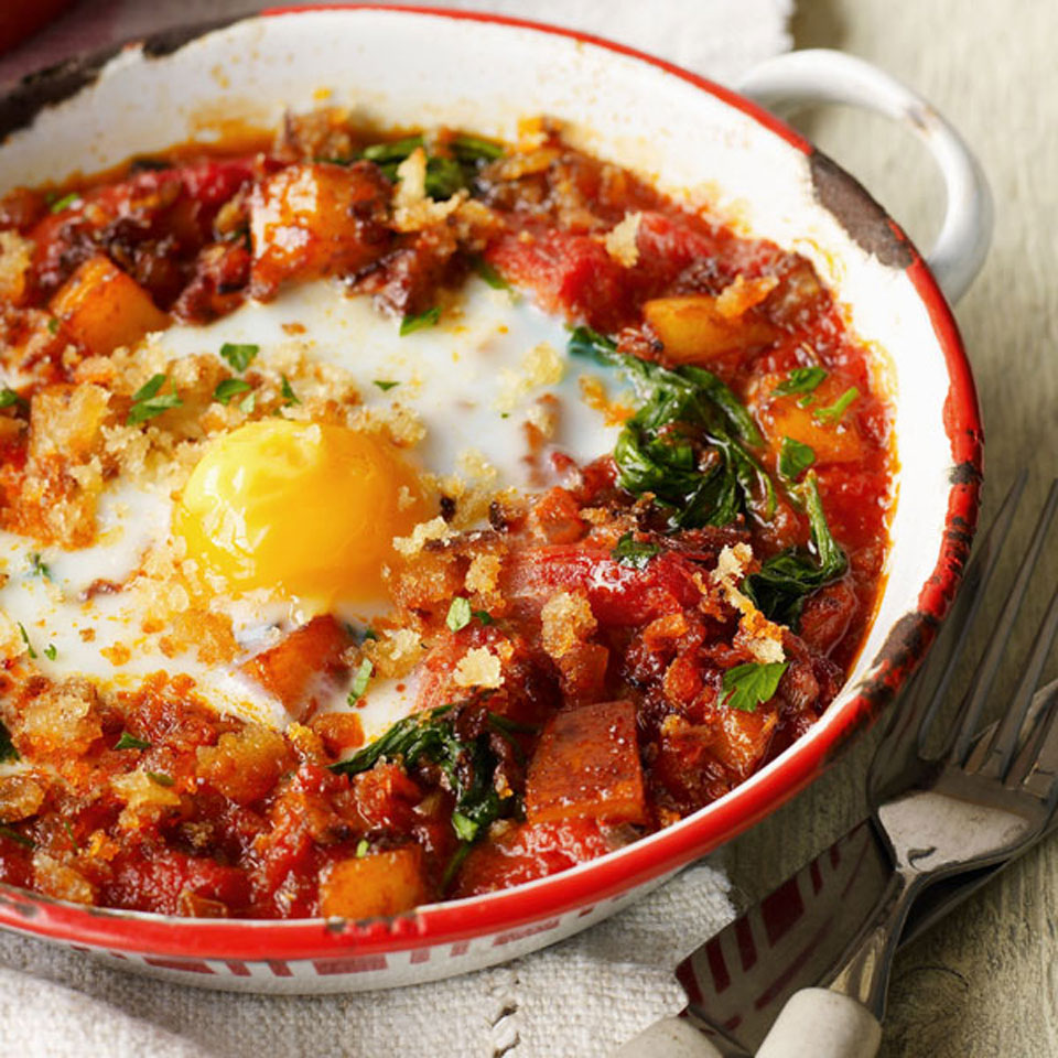 Quick veggie baked eggs - delicious. magazine