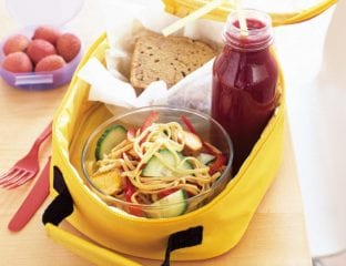 Lunchbox chicken noodle salad