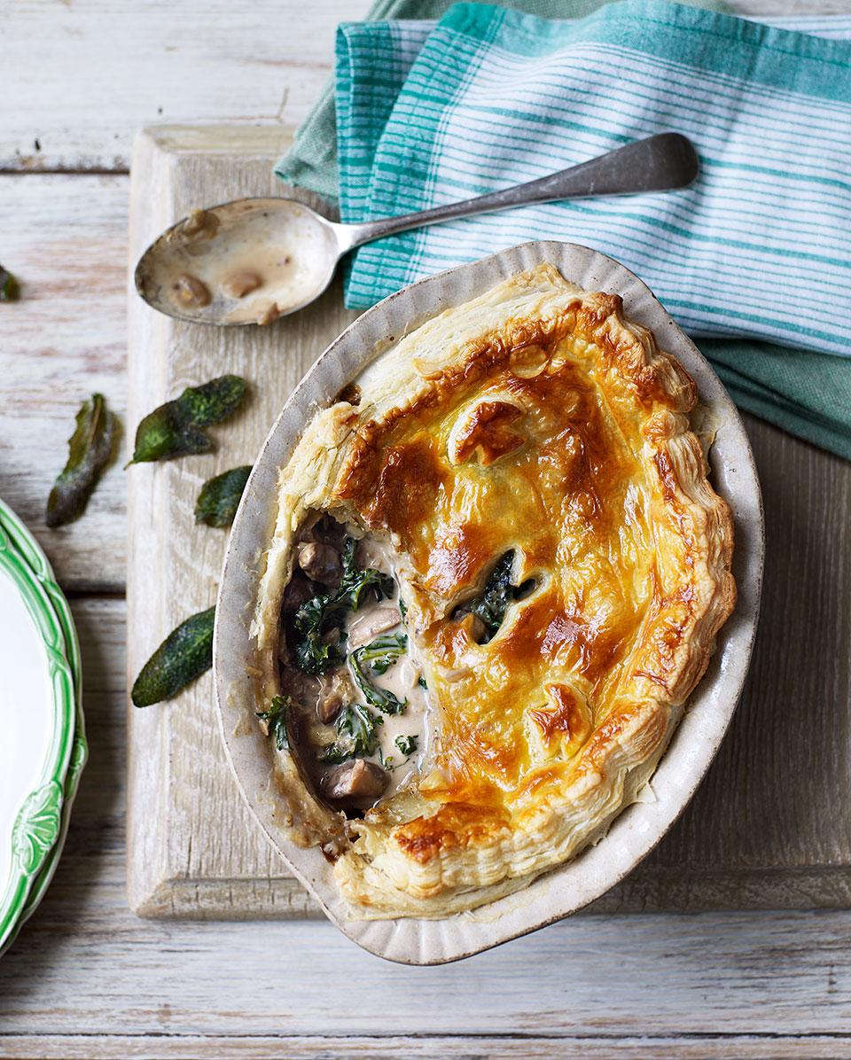 Kale chestnut and mushroom pie delicious magazine forumfinder Choice Image