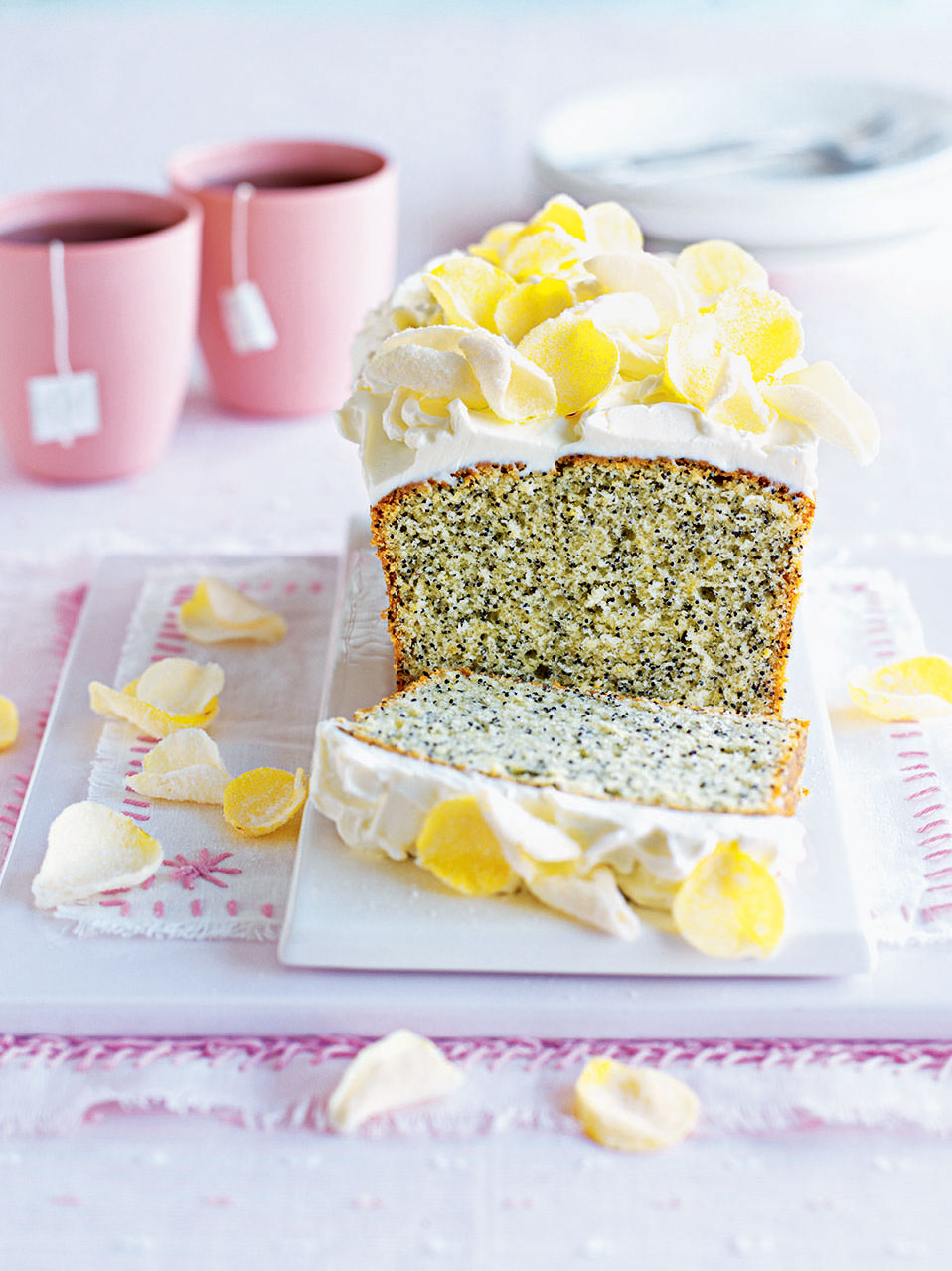 Lemon And Poppy Seed Loaf Cake With Cream Cheese Frosting Delicious Magazine