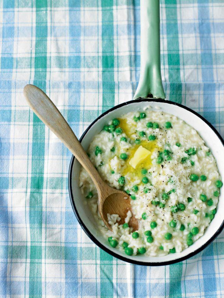 Pecorino and pea risotto - delicious. magazine