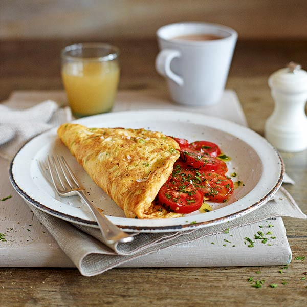 Tomato and parsley omelette - delicious. magazine