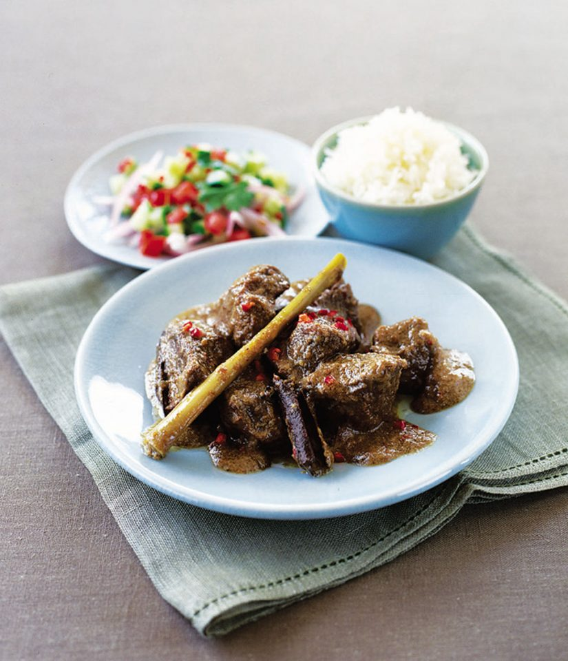 Beef Rendang, a Flavorful Southeast-Asian Curry