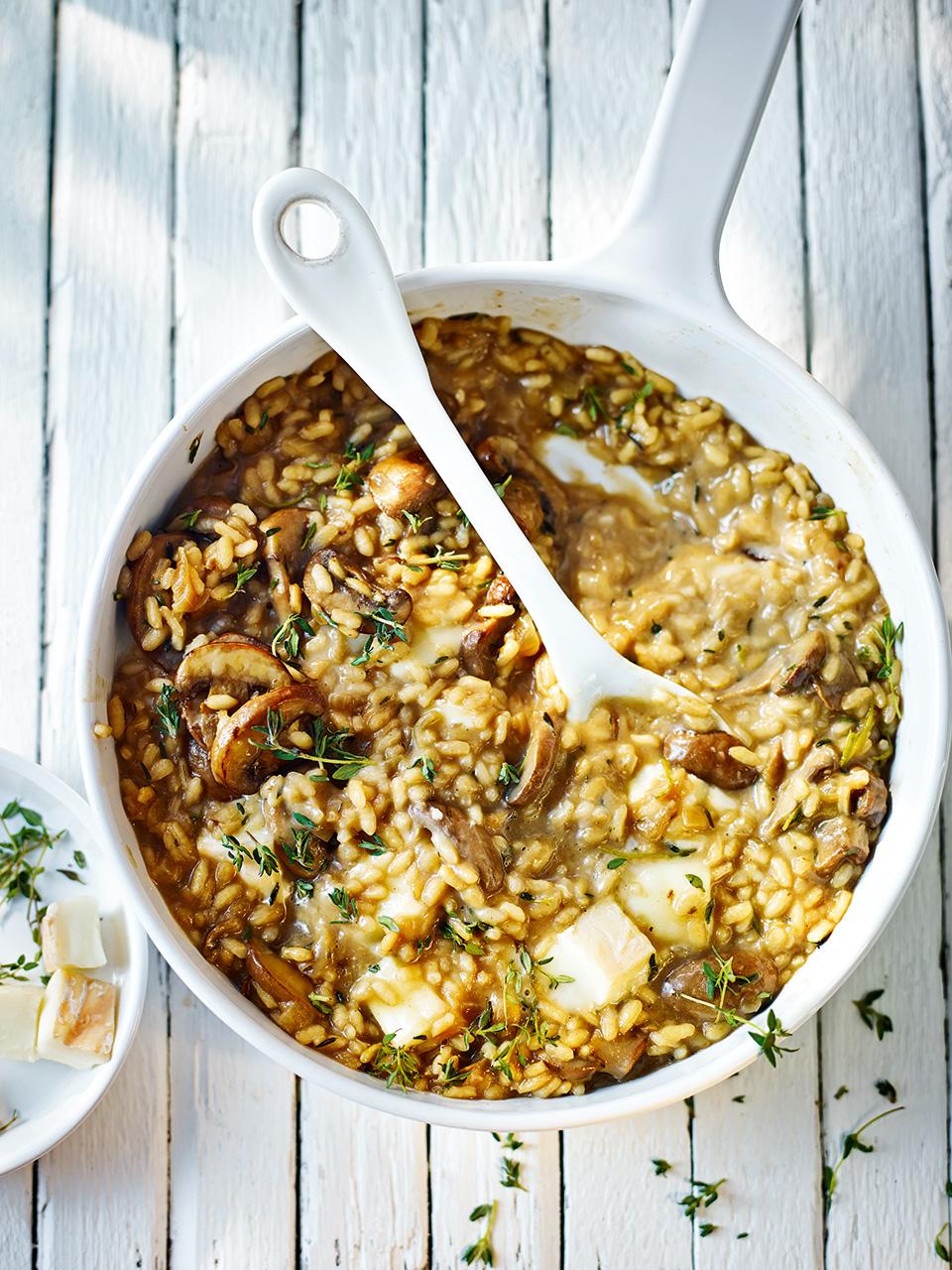 Mushroom and taleggio risotto delicious magazine forumfinder Choice Image