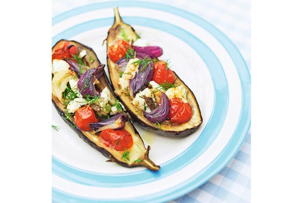 Stuffed-aubergine-with-dill-and-feta