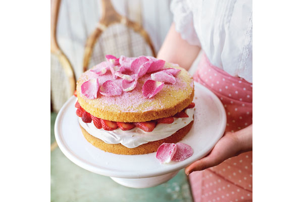 Strawberry-and-rose-victoria-sandwich