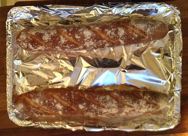 Baked baguettes