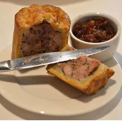 Pork pie at the National Theatre tea