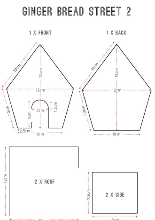 picture relating to Gingerbread House Templates Printable called Gingerbread dwelling templates delectable. journal