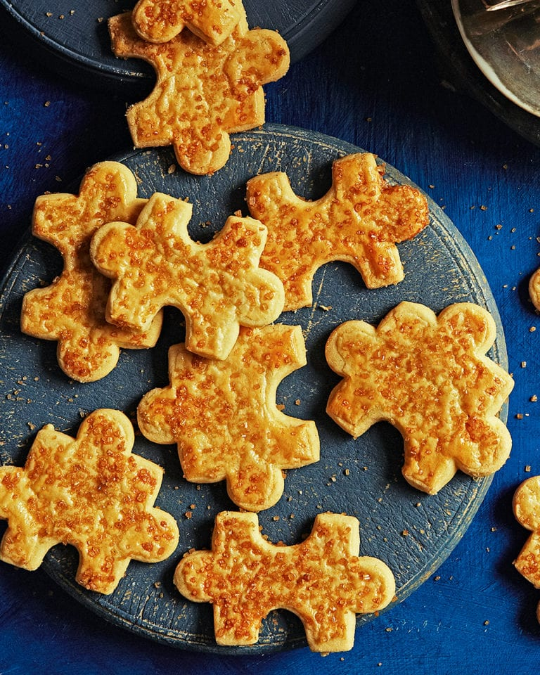 Brown butter jigsaw biscuits