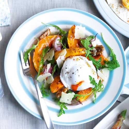 squash-and-poached-egg-salad