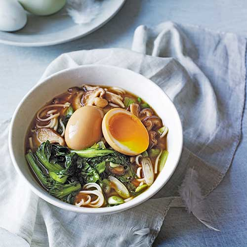 Egg and shiitake ramen