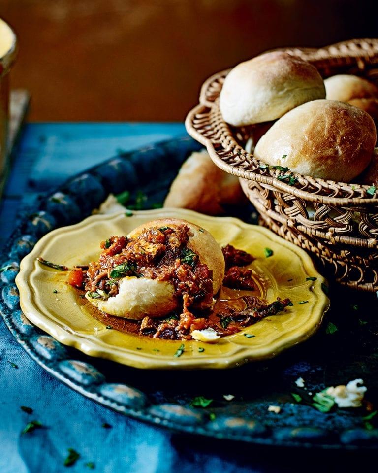 Beef short-rib ragù with gnocchi buns