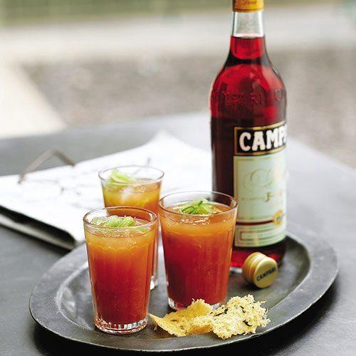 Campari and tomato cooler cocktail