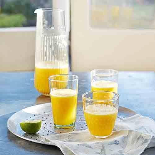 Pineapple, mango and coconut juice
