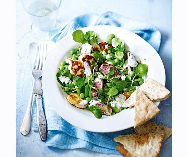 lamb-and-halloumi-salad-with-peas-and-watercress-1