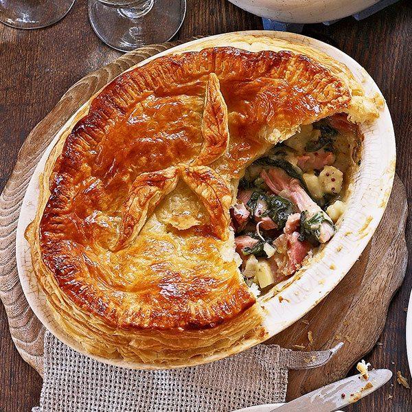 Ham-leftover-spinach-pie