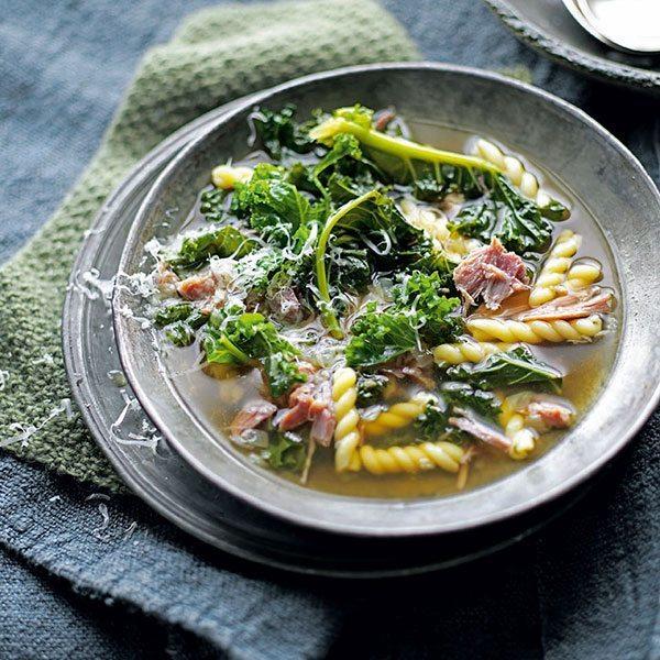 Ham-leftovers-kale-soup