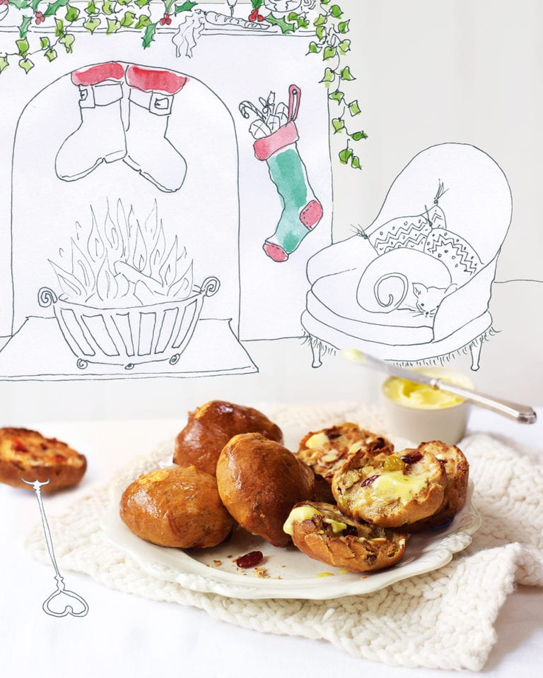Christmas spiced teacakes