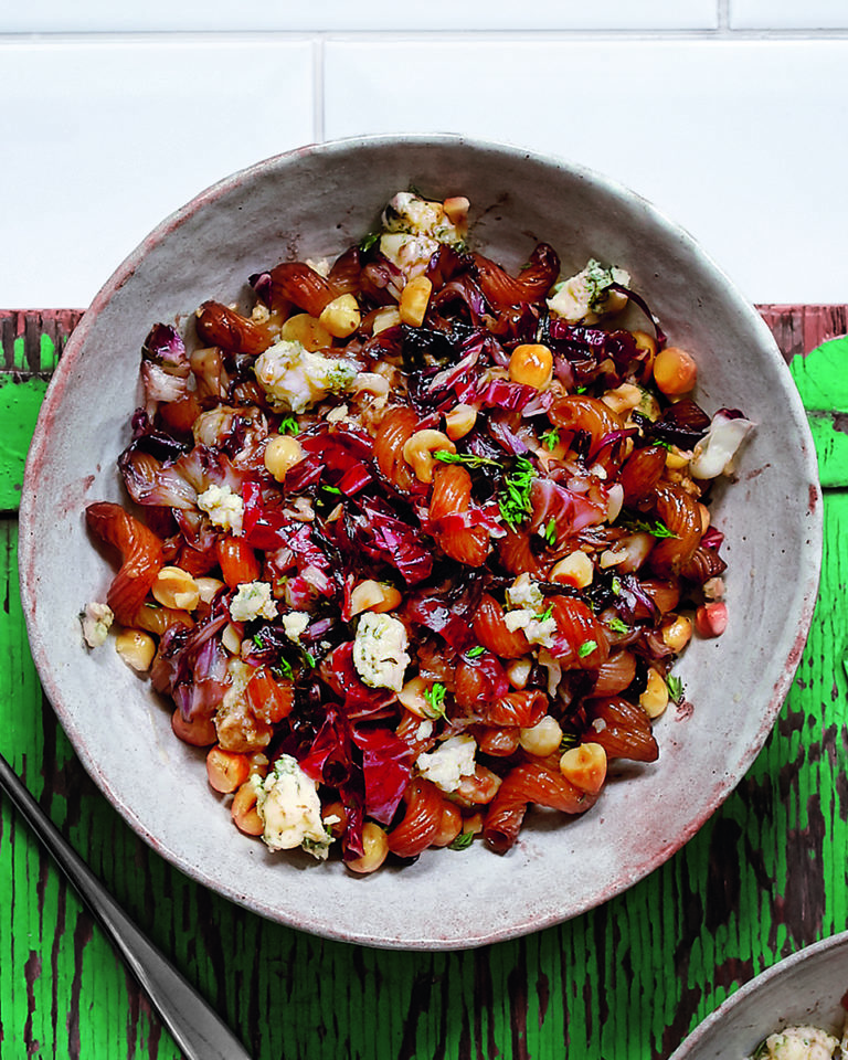 Balsamic radicchio, blue cheese and hazelnut cavatappi