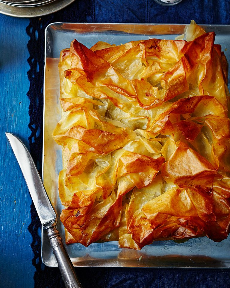 Filo-wrapped spiced sausage roll pie - delicious. magazine