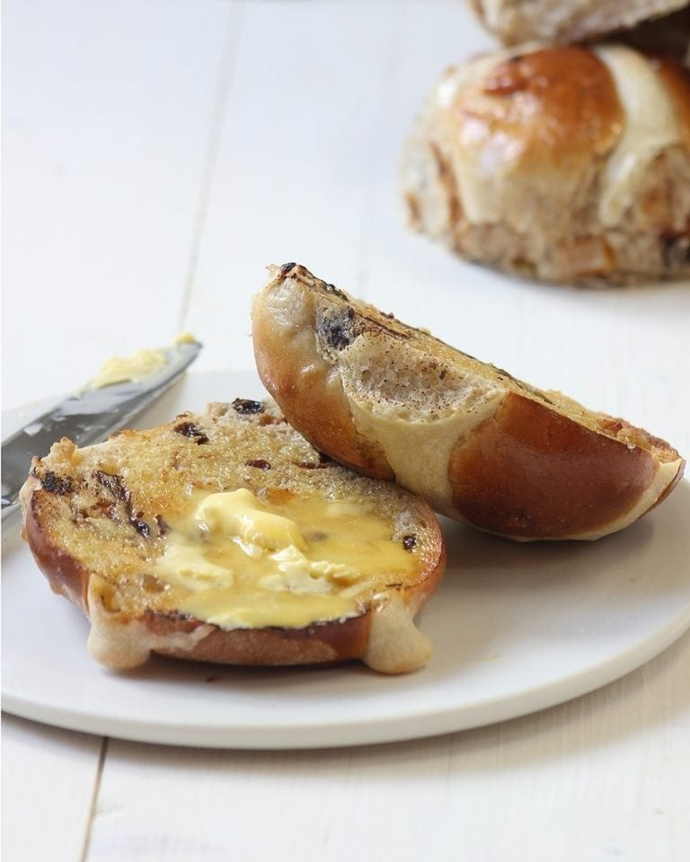 Peter Sidwell's prune and orange hot cross buns