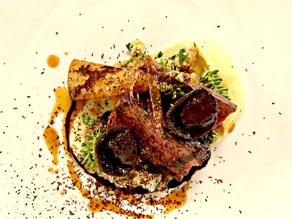 Ormer---venison-with-chocolate-tortellini
