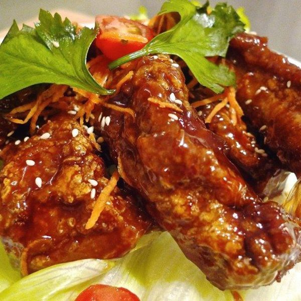 Marmite glazed ribs