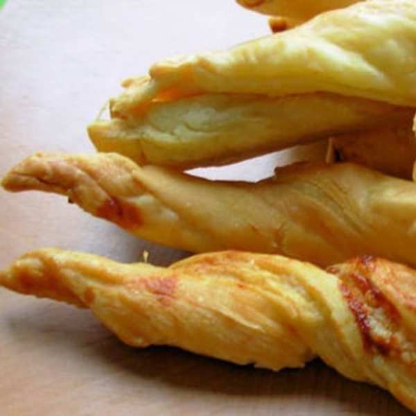 Cheese and marmite straws