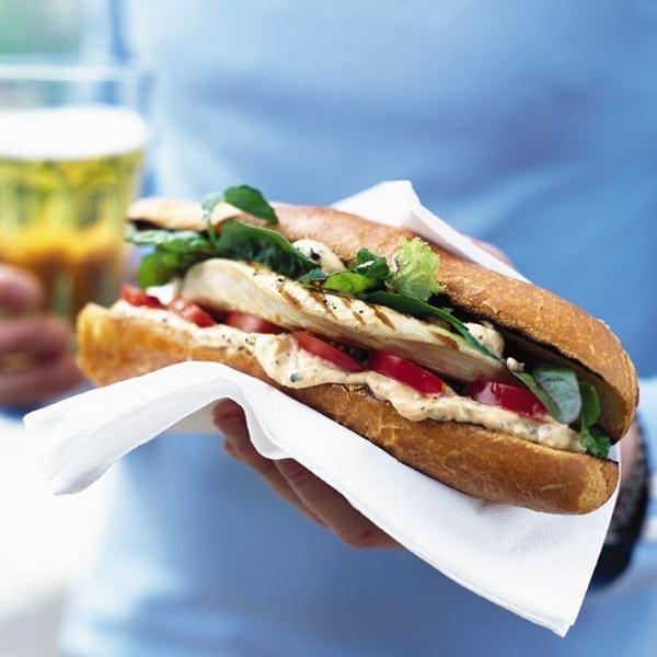 Italian turkey club sandwich
