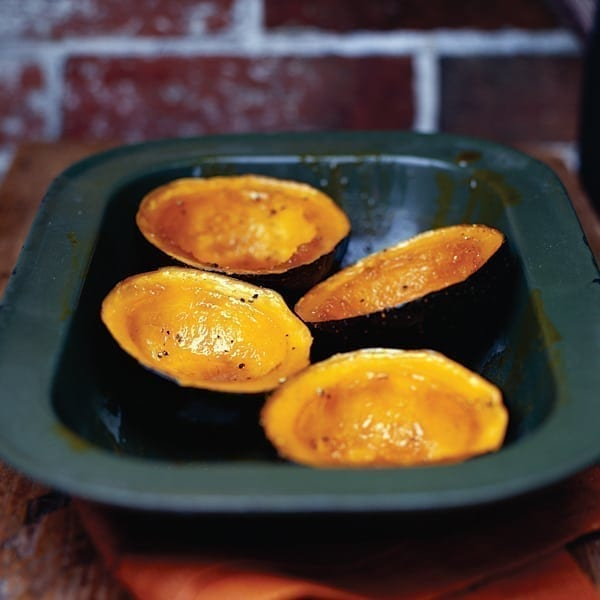 Baked squash with maple syrup