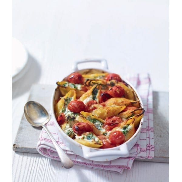 Lemon, ricotta and cherry tomato pasta bake
